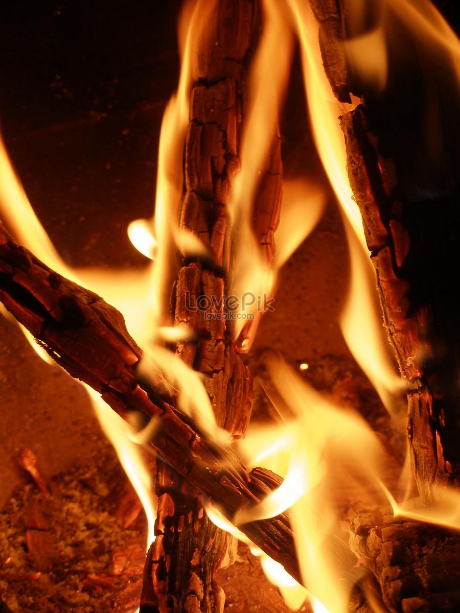 Hình ảnh củi lửa bùng cháy cực đẹp