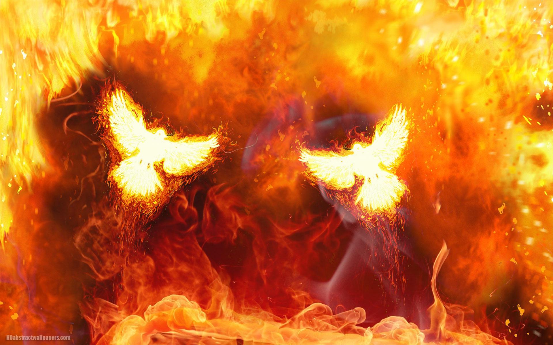 Hình ảnh ngọn lửa hình con chim