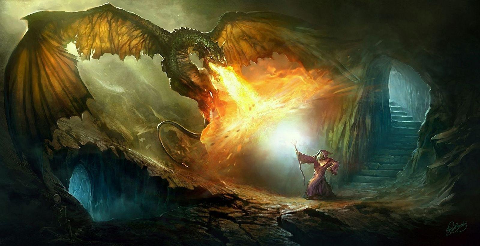 Hình ảnh ngọn lửa phun ra từ miệng rồng