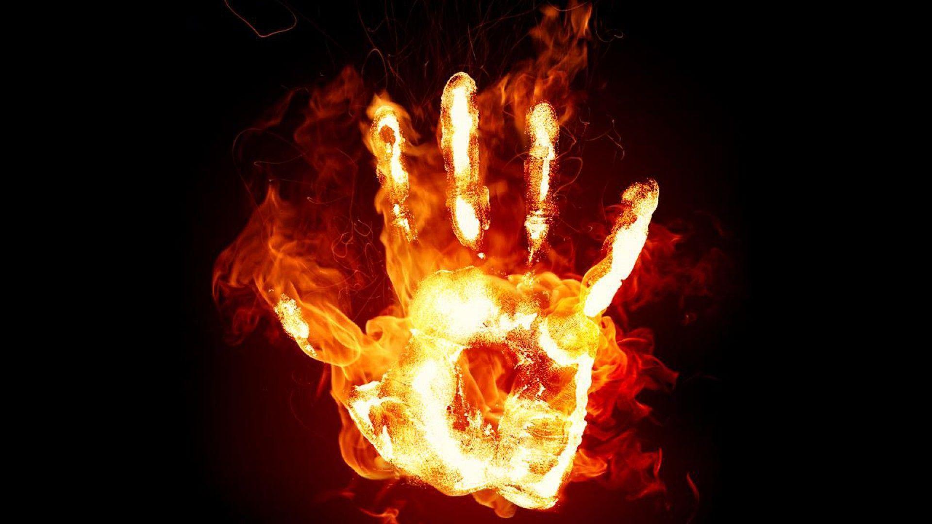 Hình ảnh ngọn lửa từ bàn tay lửa