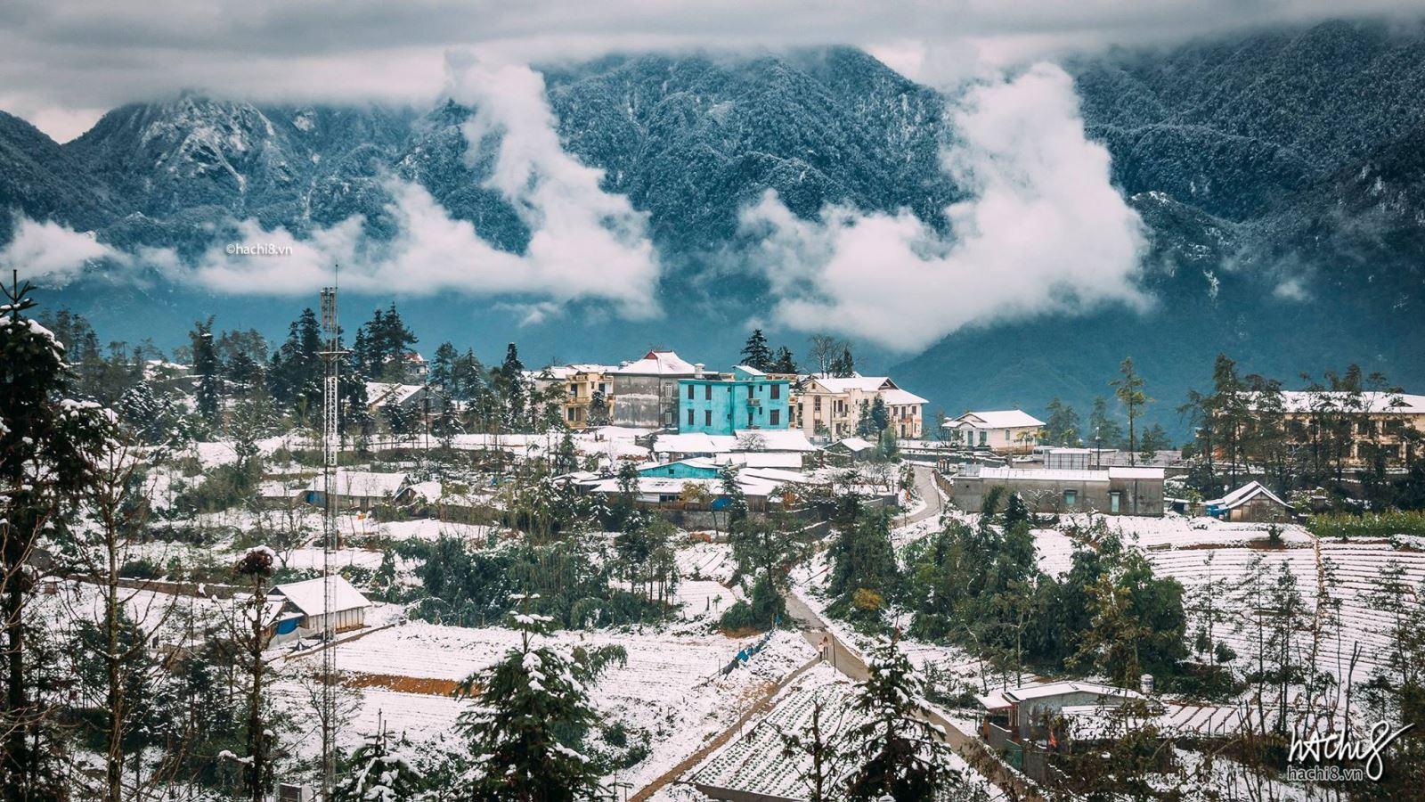 Hình ảnh thị trấn tuyết phủ cực đẹp