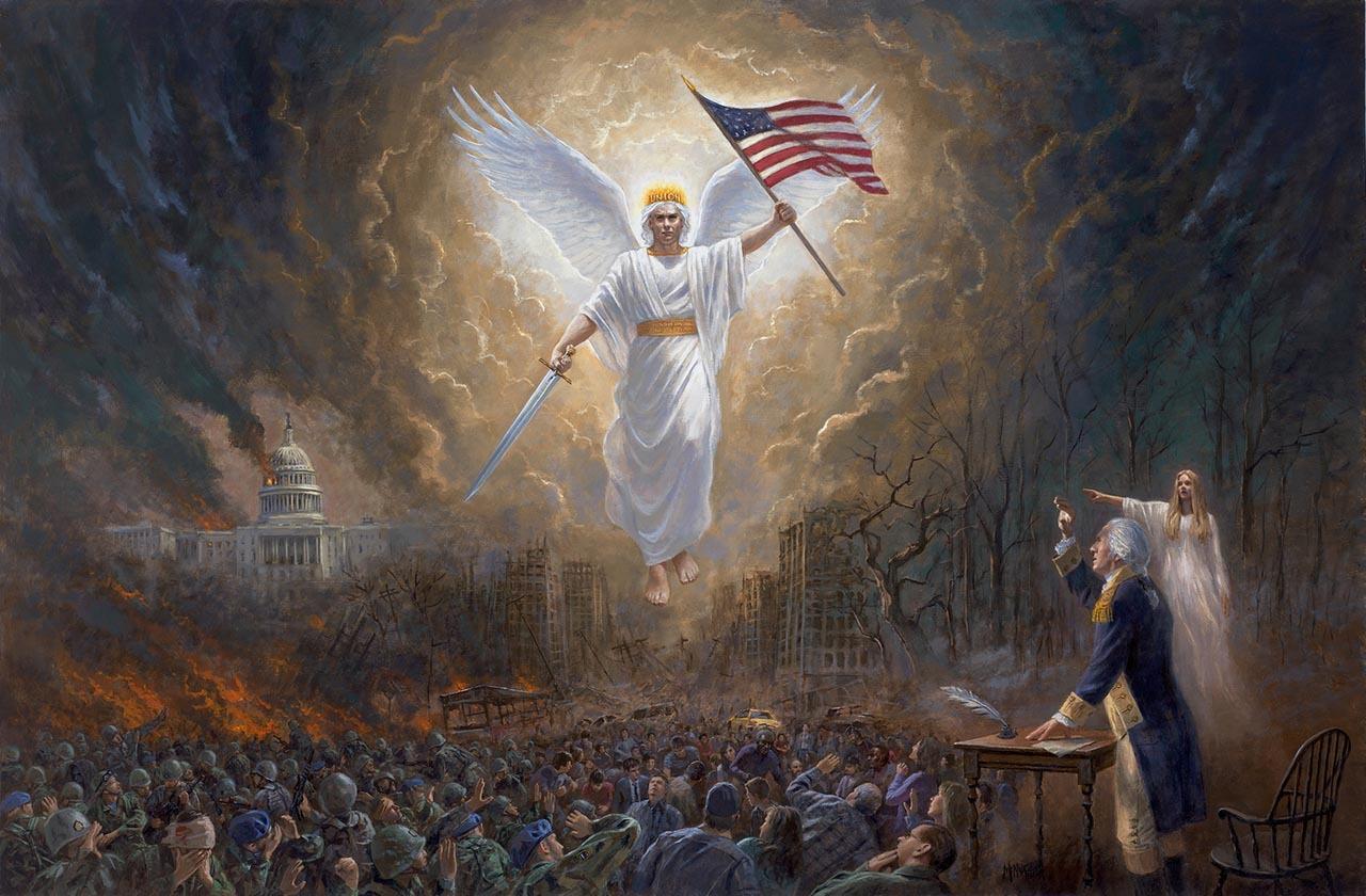 Hình ảnh thiên thần cầm cờ cực đẹp