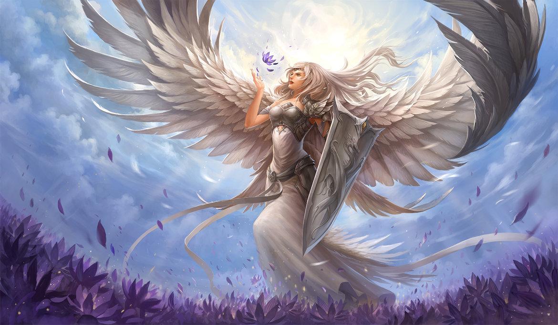 Hình ảnh thiên thần cầm khiên cầm kiếm