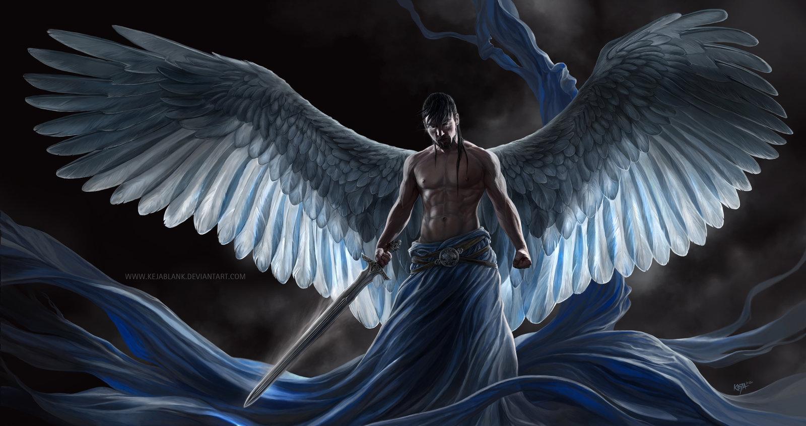 Hình ảnh thiên thần cầm kiếm cực ngầu