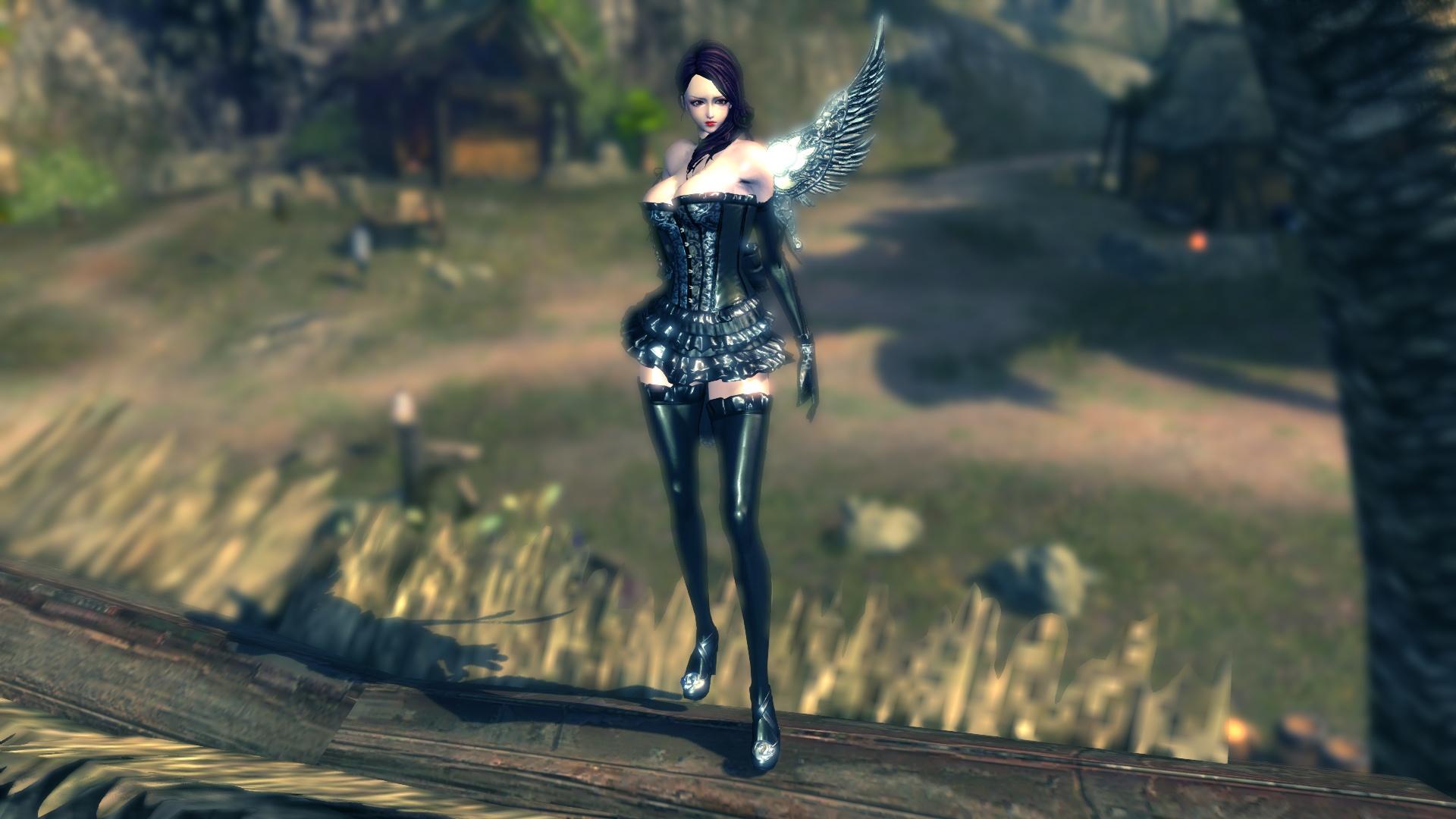 Hình ảnh thiên thần cánh đen quyến rũ