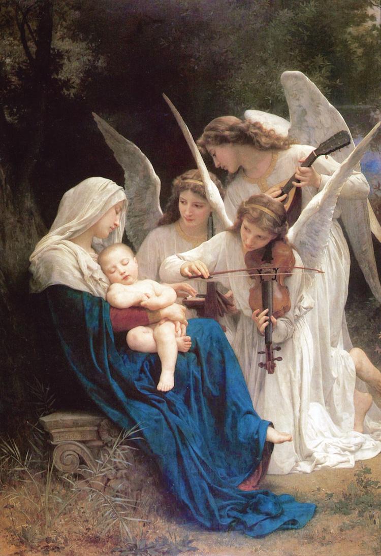 Hình ảnh thiên thần chơi nhạc du dương cực đẹp