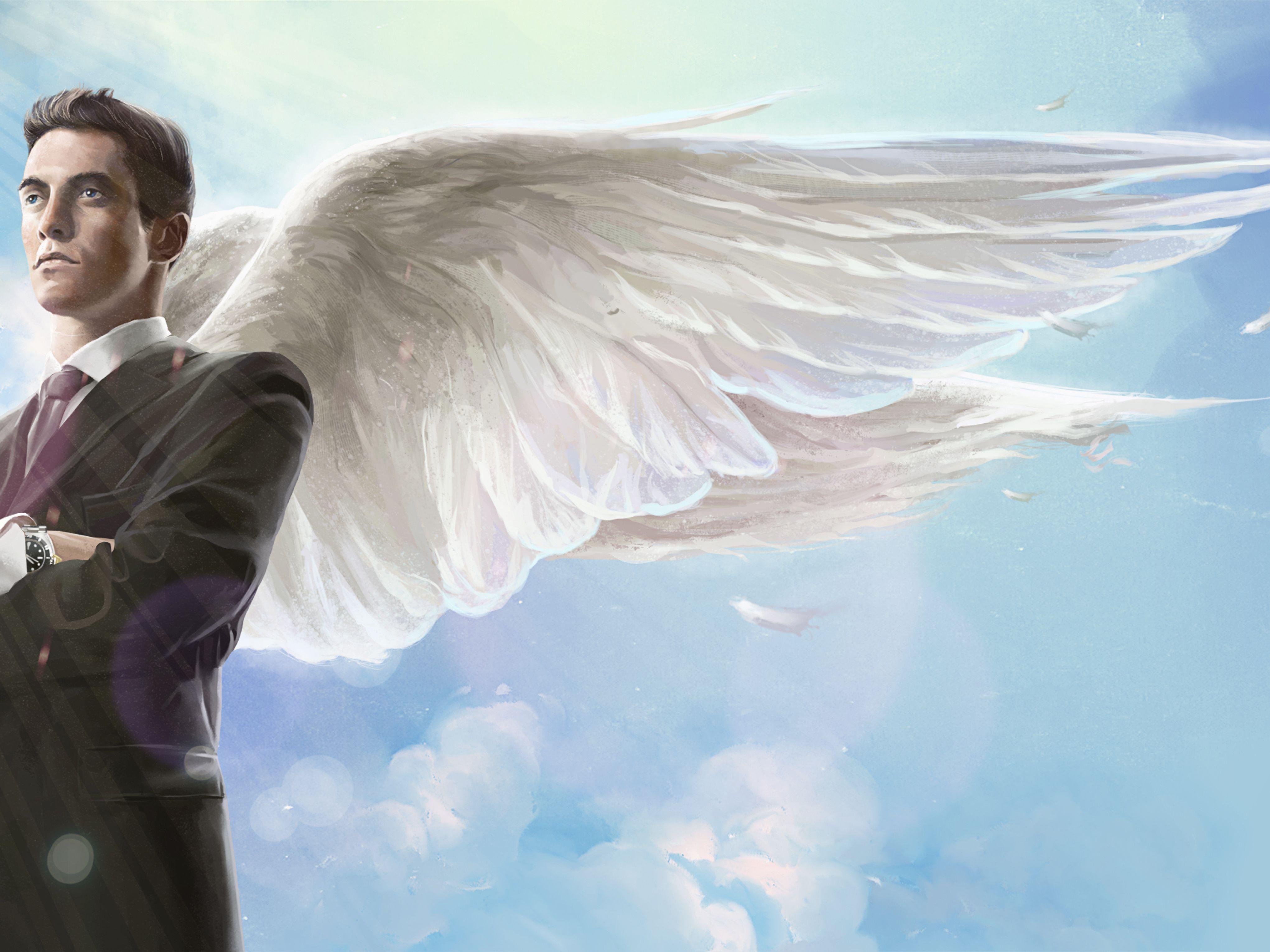 Hình ảnh thiên thần nam mặc vest