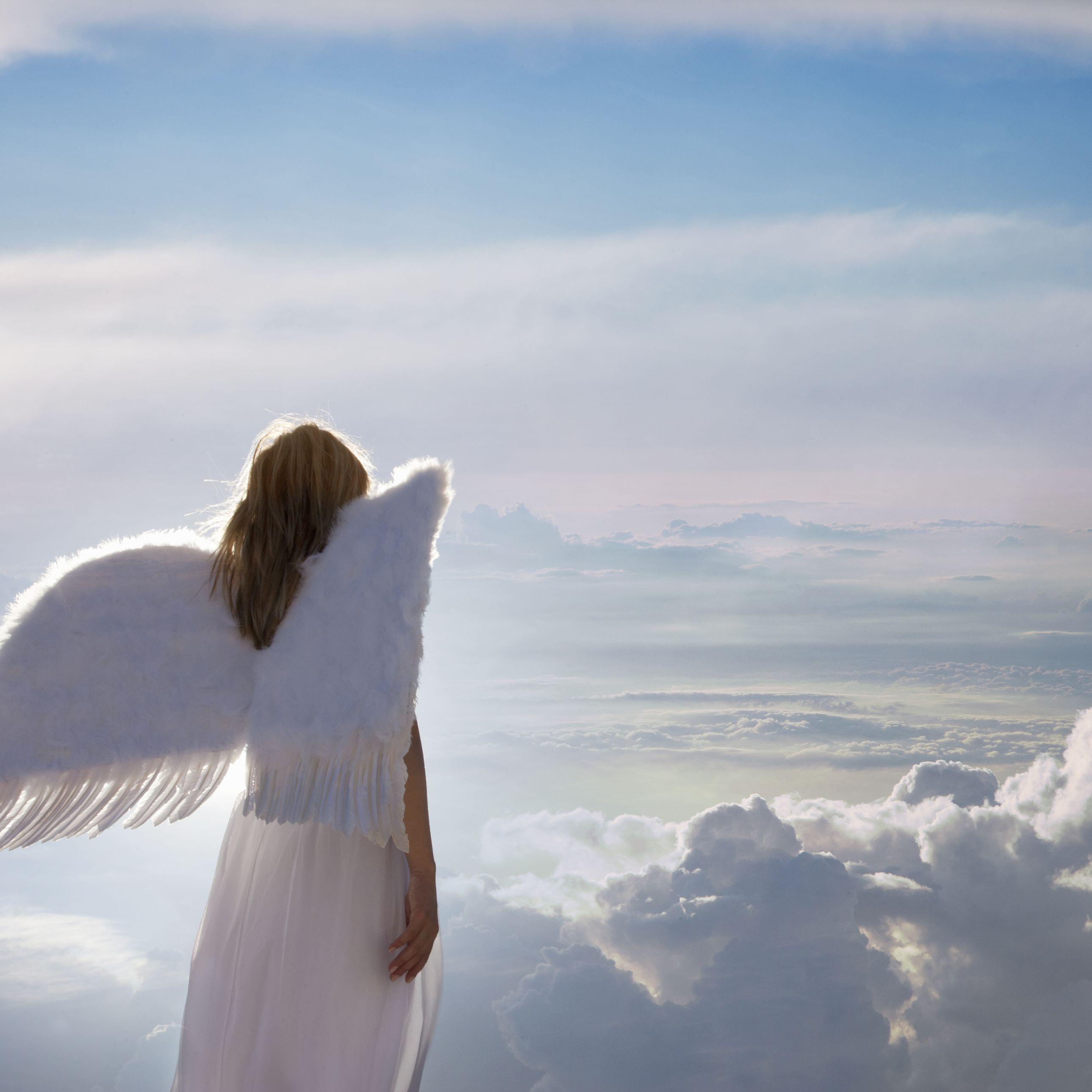 Hình ảnh thiên thần nhìn biển mây