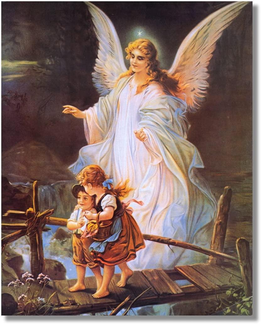 Hình ảnh thiên thần nhìn hai đứa trẻ