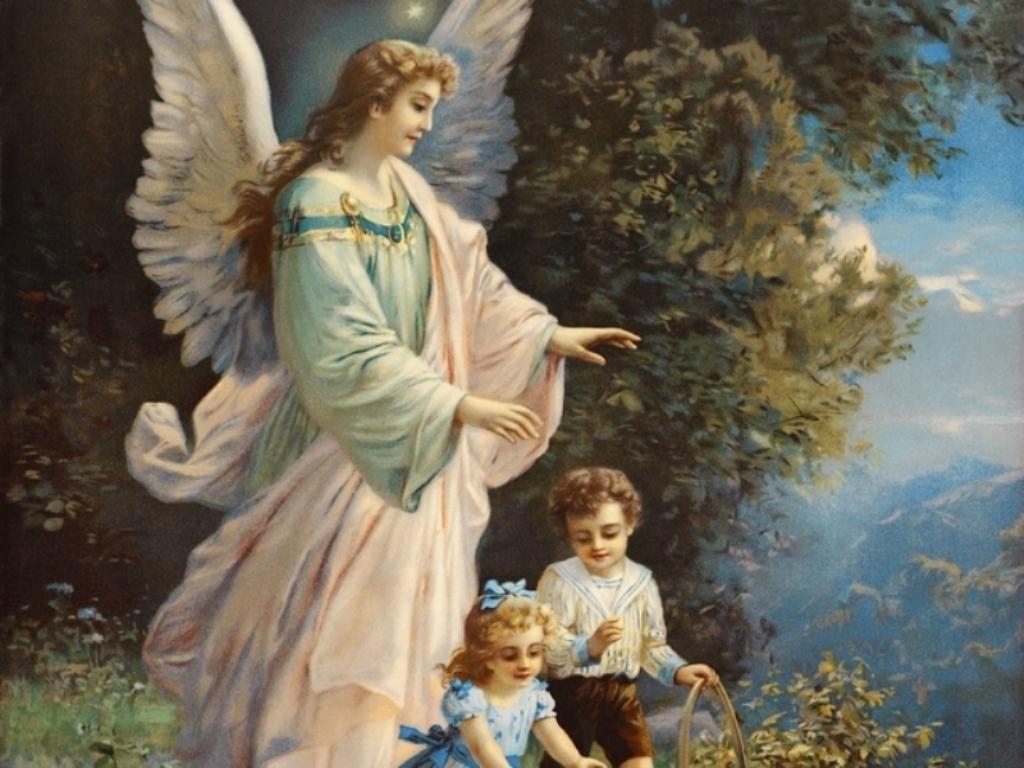 Hình ảnh thiên thần và đứa trẻ