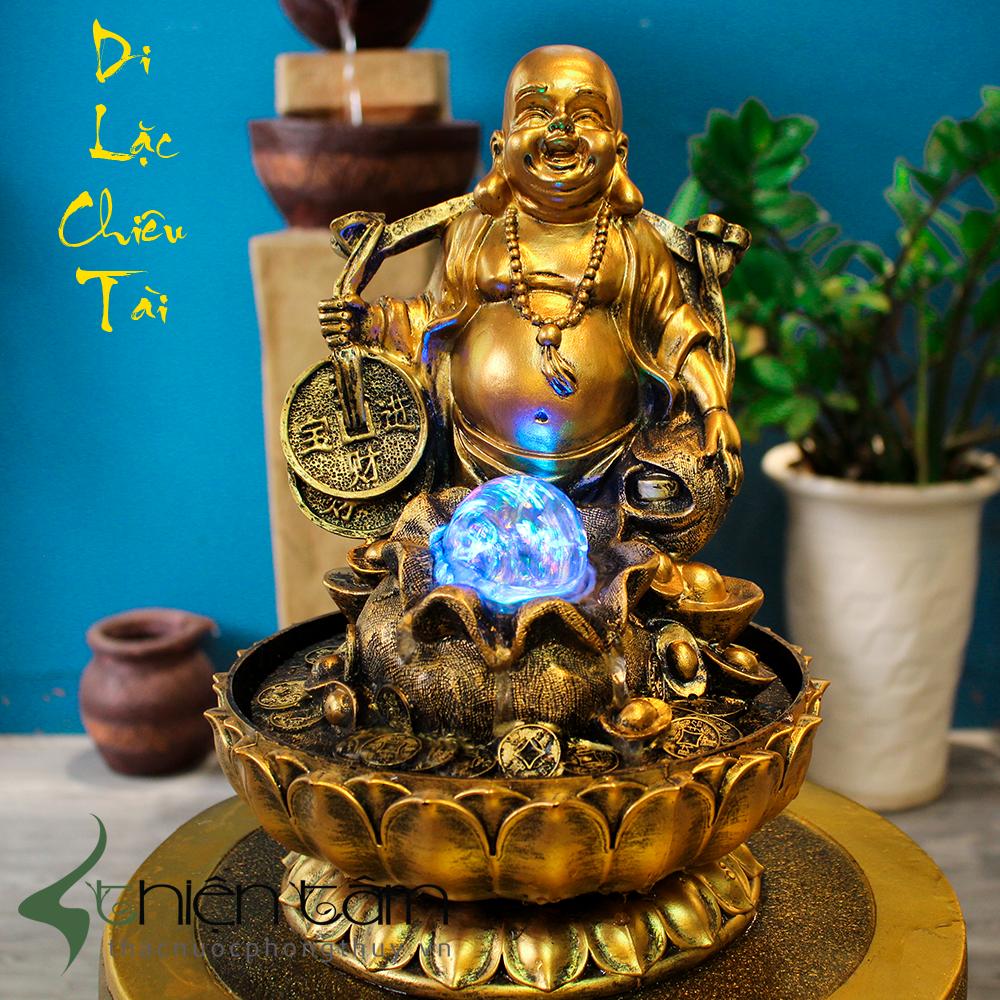 Hình ảnh tượng Phật Di Lặc đồng vàng