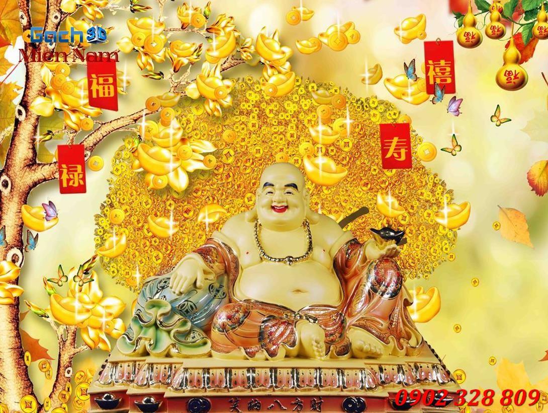 Hình ảnh tượng Phật Di Lặc và đồng vàng