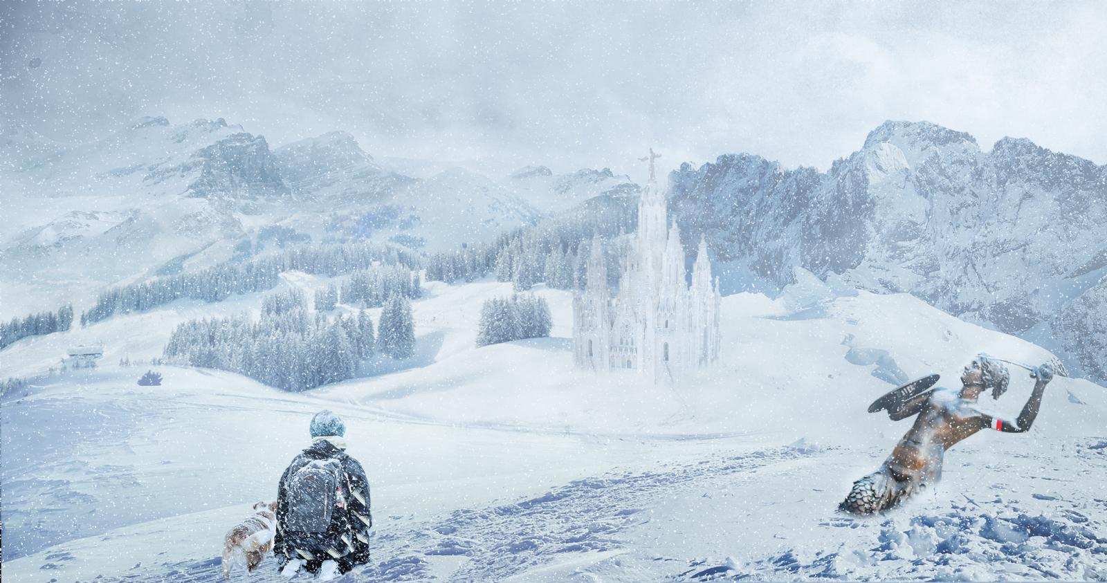 Hình ảnh tuyết rơi cực đẹp trong khu trượt