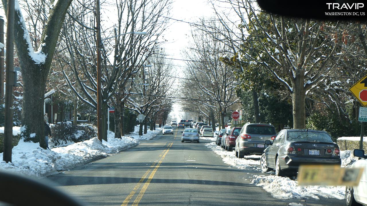 Hình ảnh tuyết trong đường phố