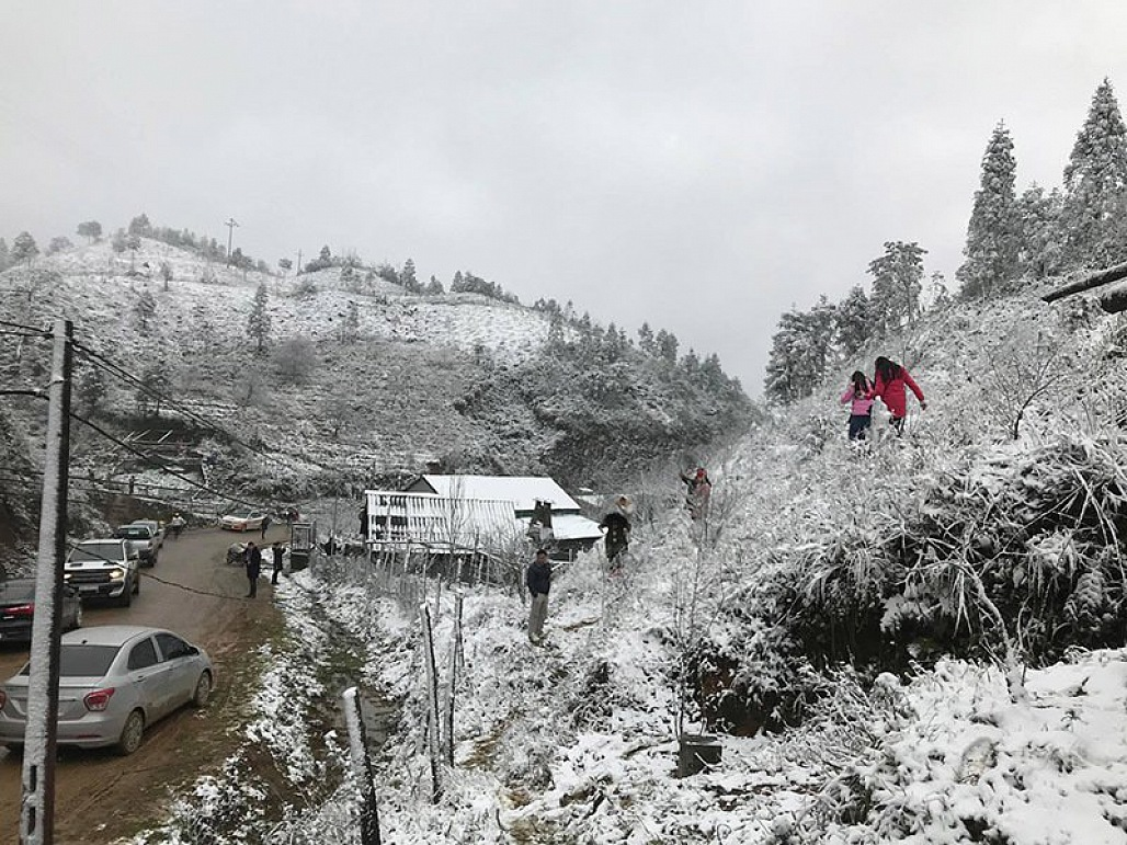 Hình ảnh vùng nông thôn tuyết phủ