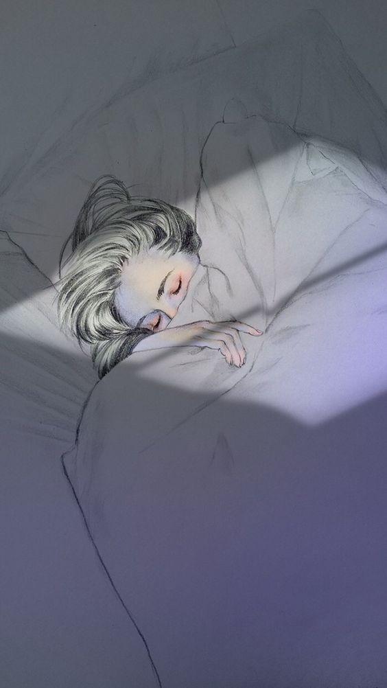Hình nền điện thoại đôi cực đẹp nằm ngủ trên giường 1