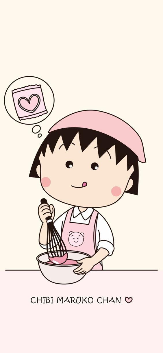 Hình nền điện thoại đôi Maruko chan 1