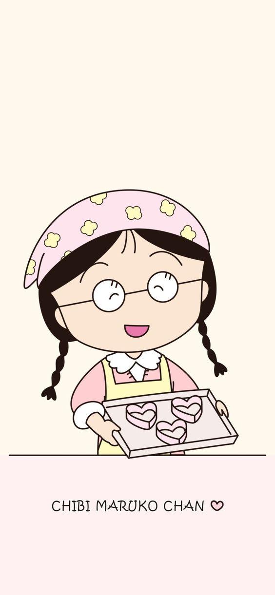 Hình nền điện thoại đôi Maruko chan 2