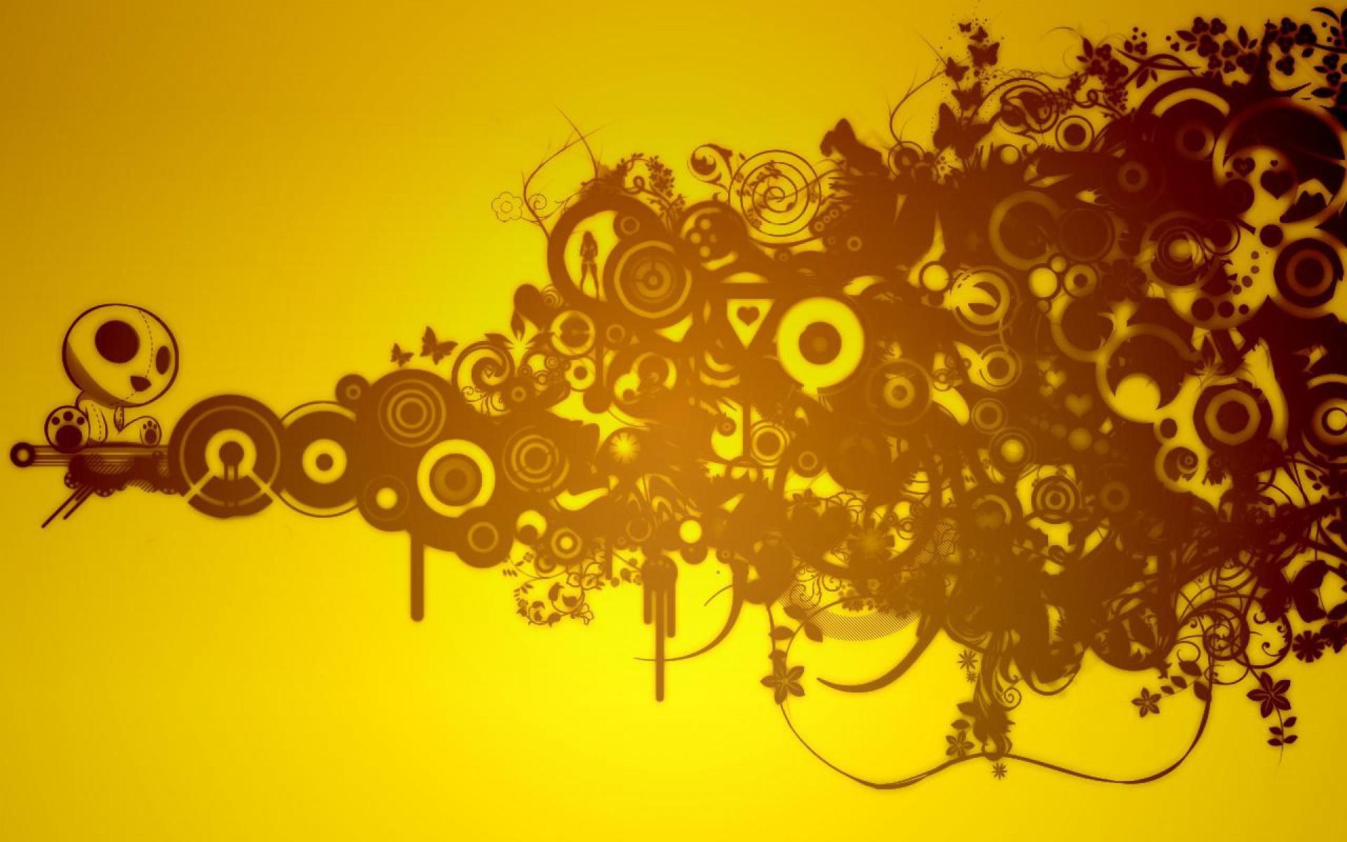 Hình nền màu vàng hoa văn cực đẹp