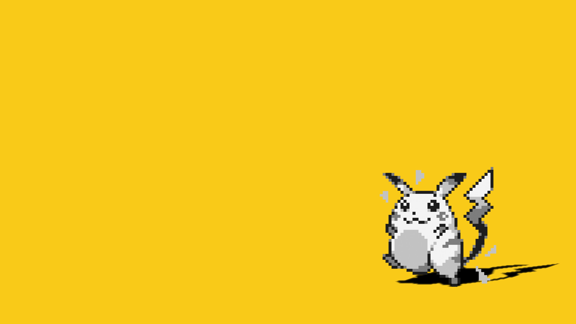 Hình nền màu vàng và Pikachu cực đẹp