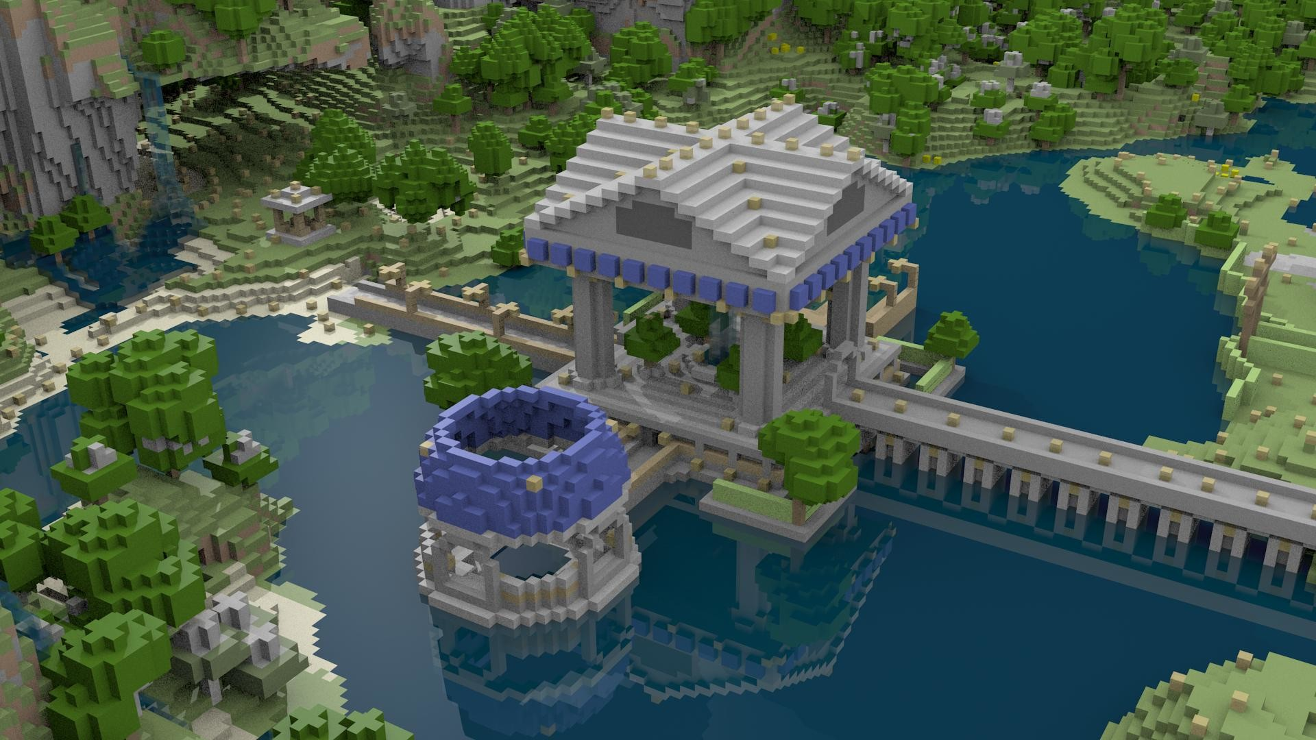 Hình nền Minecraft chòi nghỉ mát