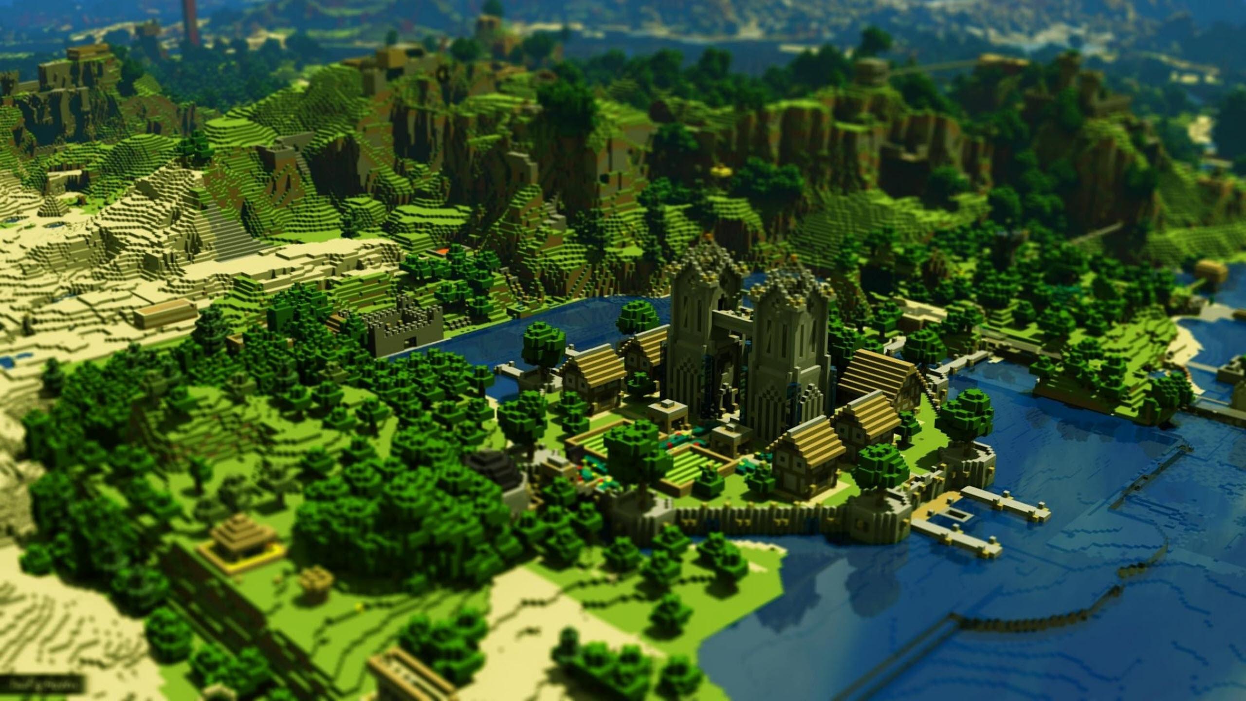 Hình nền Minecraft đẹp toàn cảnh vương quốc