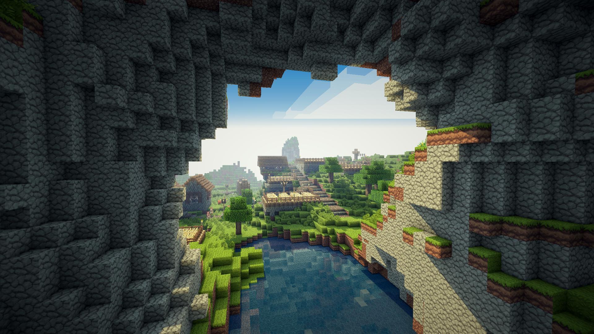 Hình nền Minecraft đẹp với khung cảnh đẹp