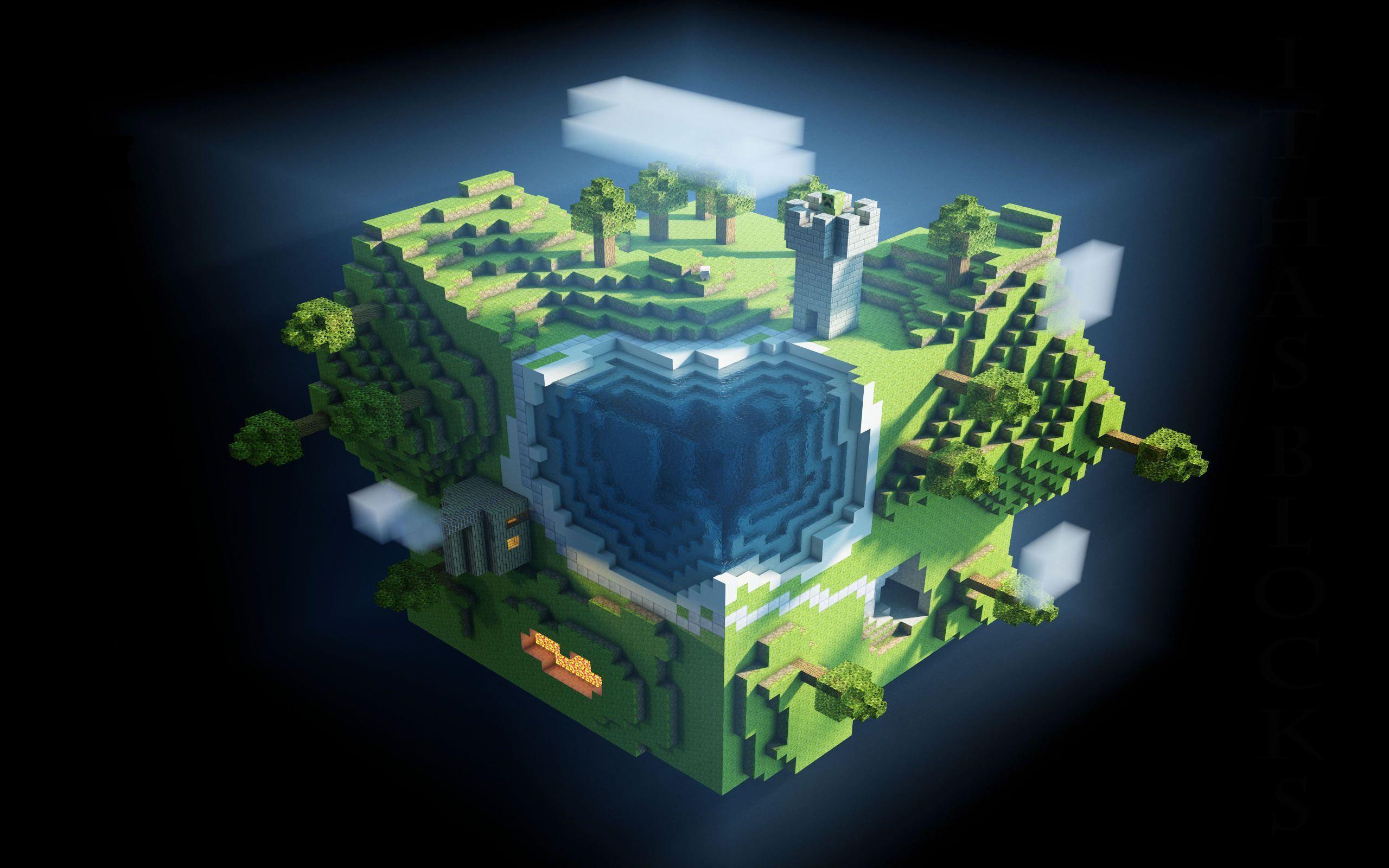 Hình nền Minecraft khối xếp hình