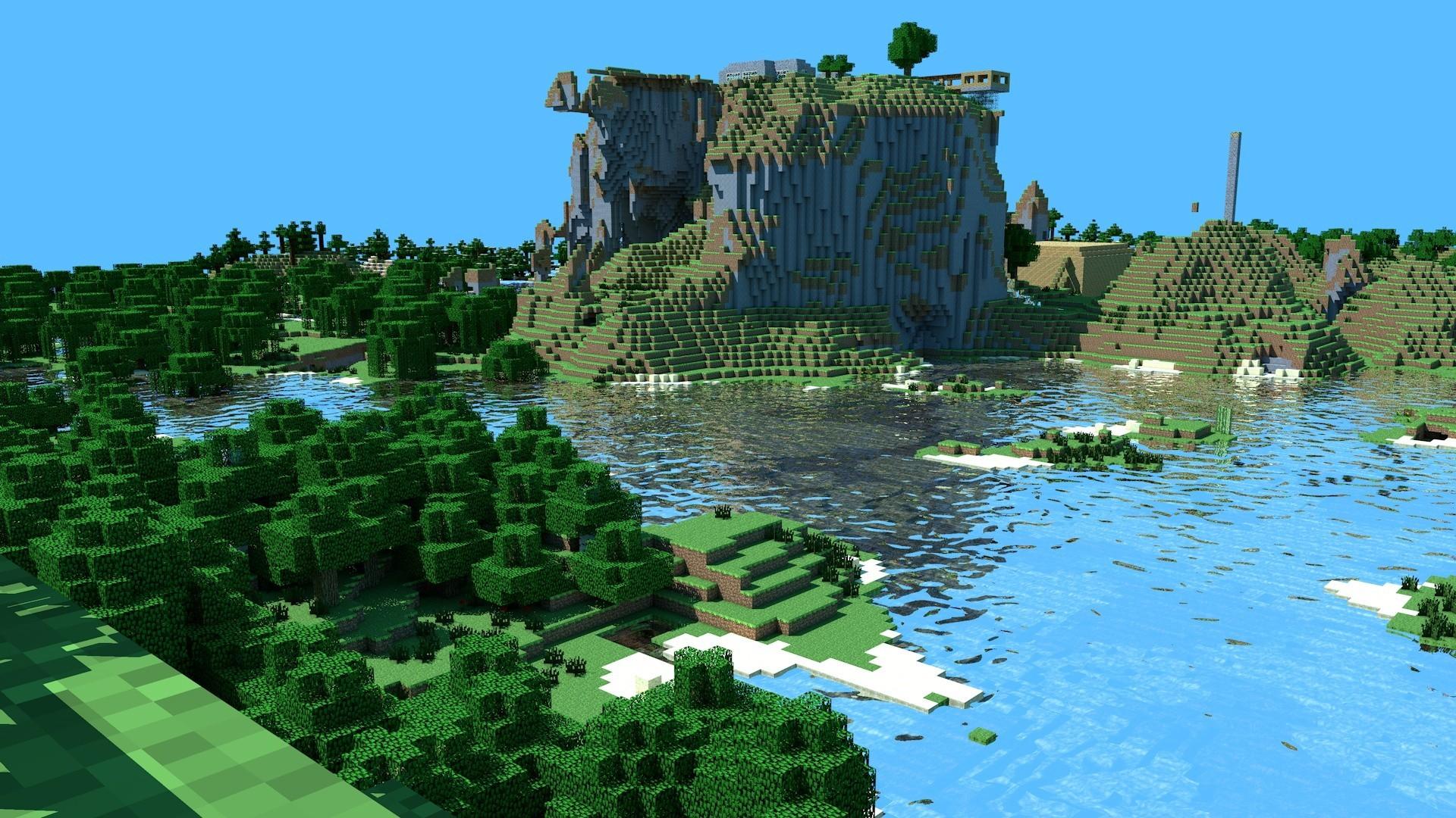 Hình nền Minecraft khung cảnh tuyệt đẹp