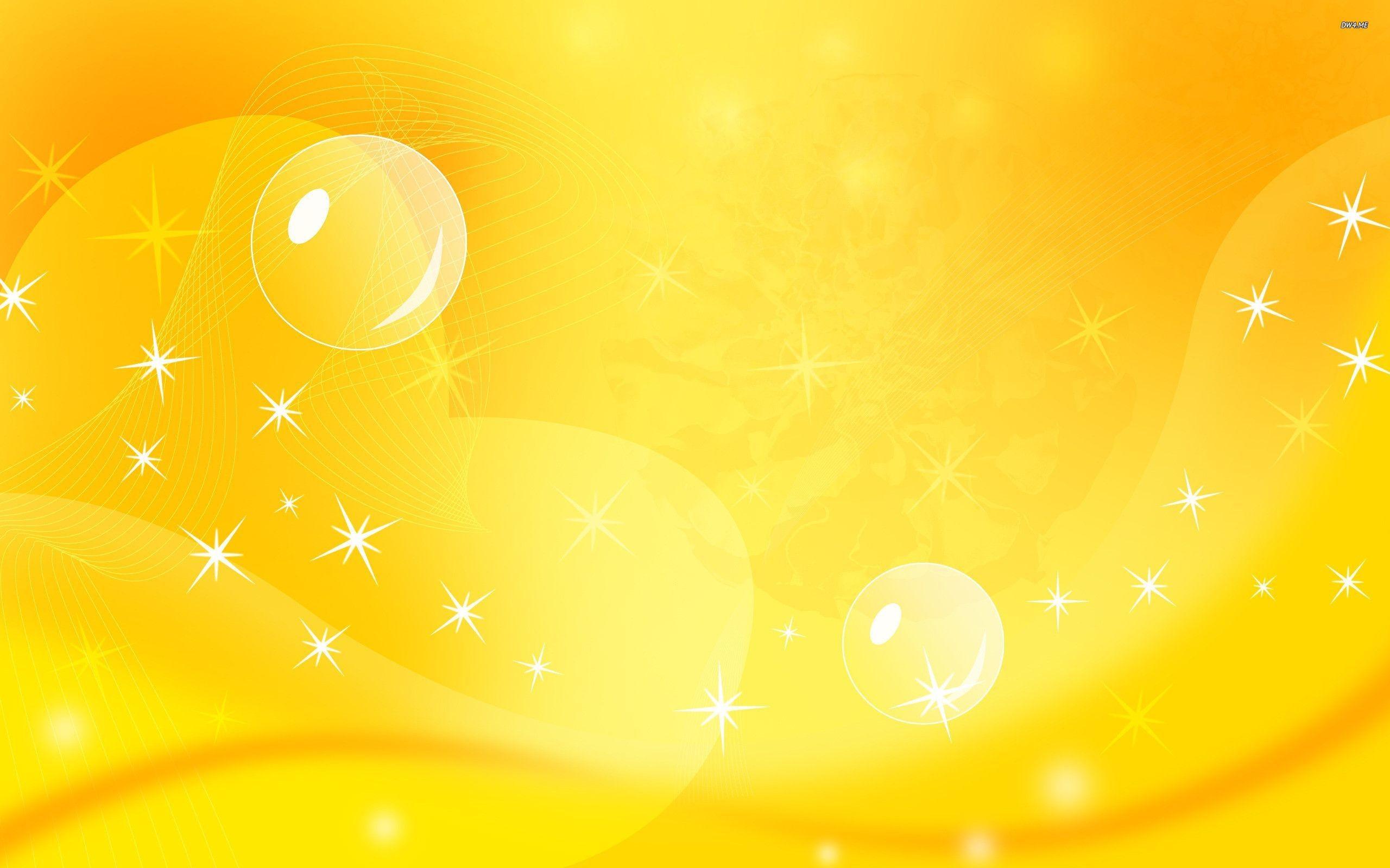 Hình nền vàng bong bóng lấp lánh
