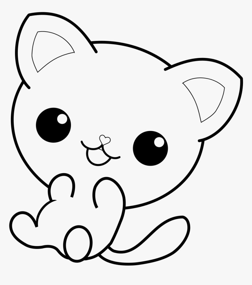 Tranh tô màu chú mèo con cực kỳ đáng yêu