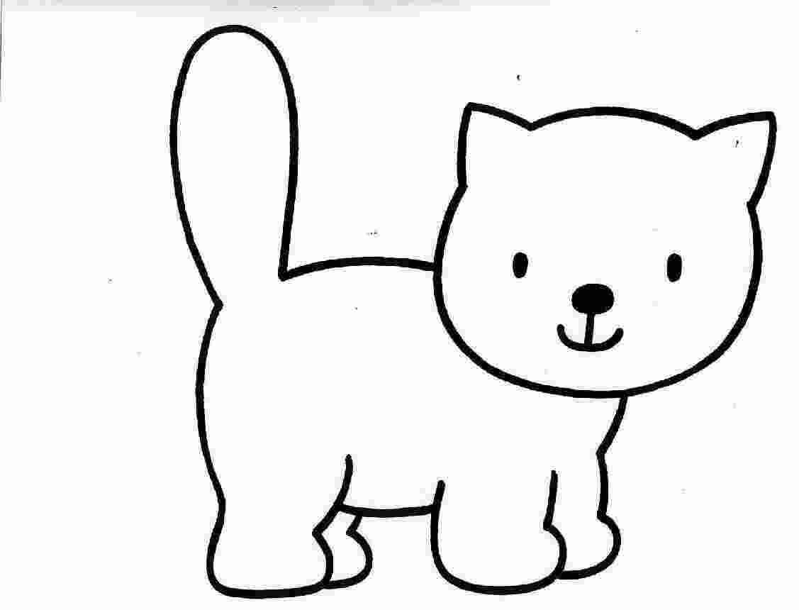 Tranh tô màu chú mèo đáng yêu vô cùng
