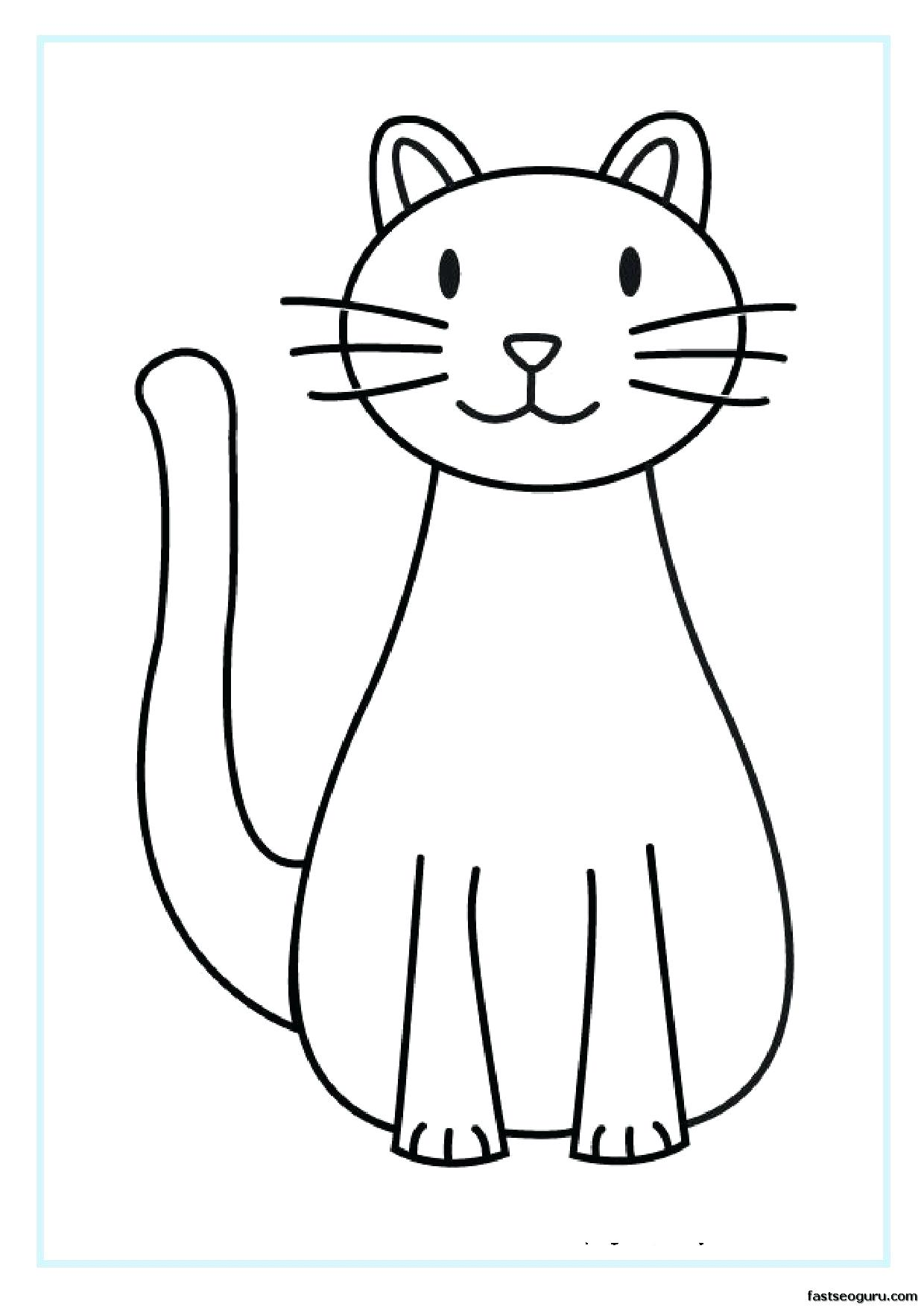 Tranh tô màu con mèo đáng yêu
