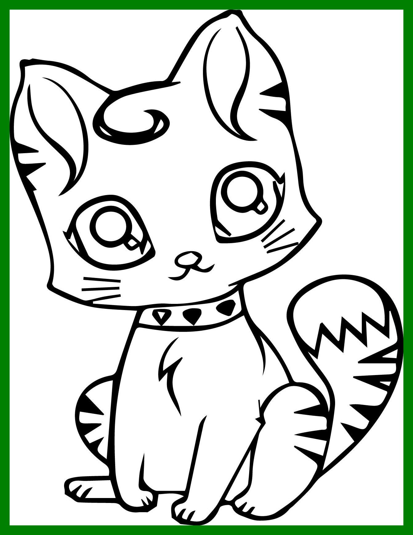 Tranh tô màu con mèo đôi mắt long lanh