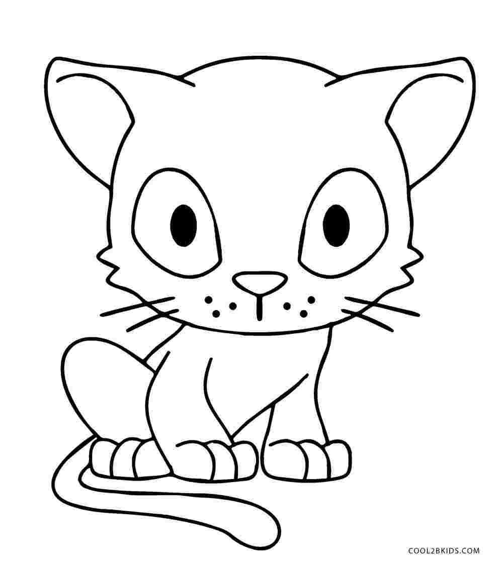 Tranh tô màu mèo chibi xinh đẹp
