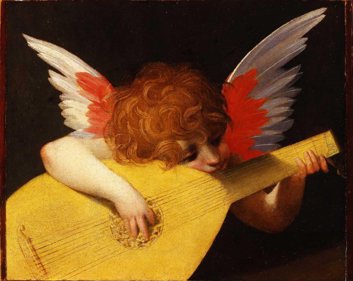 Tranh vẽ cô gái thiên thần sơn dầu