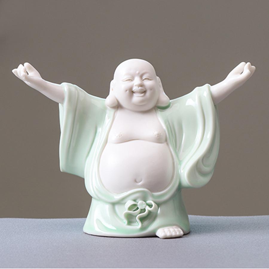 Tượng ngọc trắng Phật Di Lặc