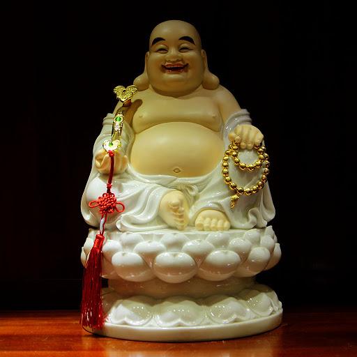 Tượng Phật Di Lặc tô màu rất đẹp
