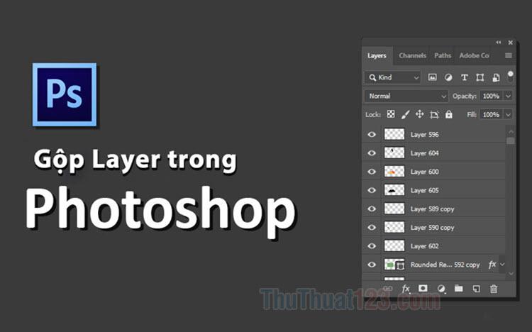 Cách gộp Layer trong Photoshop