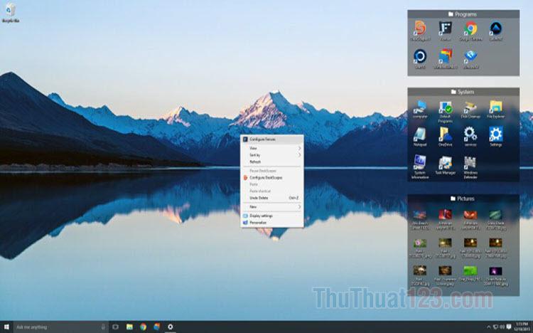Hướng dẫn tùy biến giao diện của Windows 10