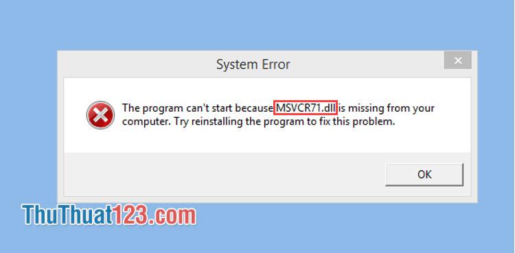 Sửa lỗi thiếu file dll trực tuyến với dll-files