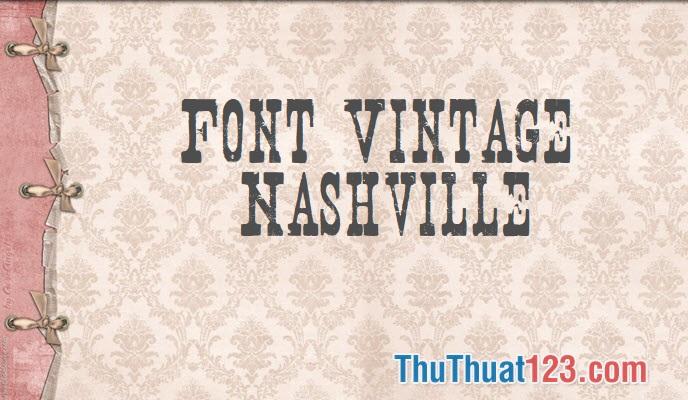Font vintage danh thiếp