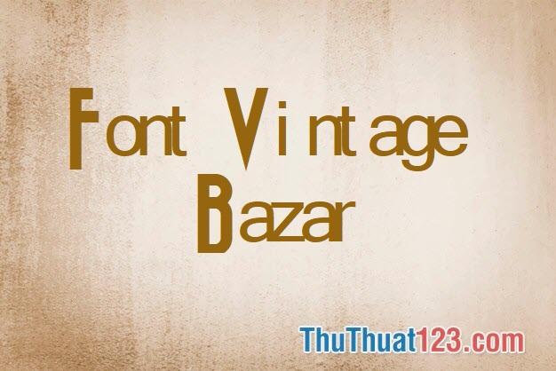Font Vintage đẹp
