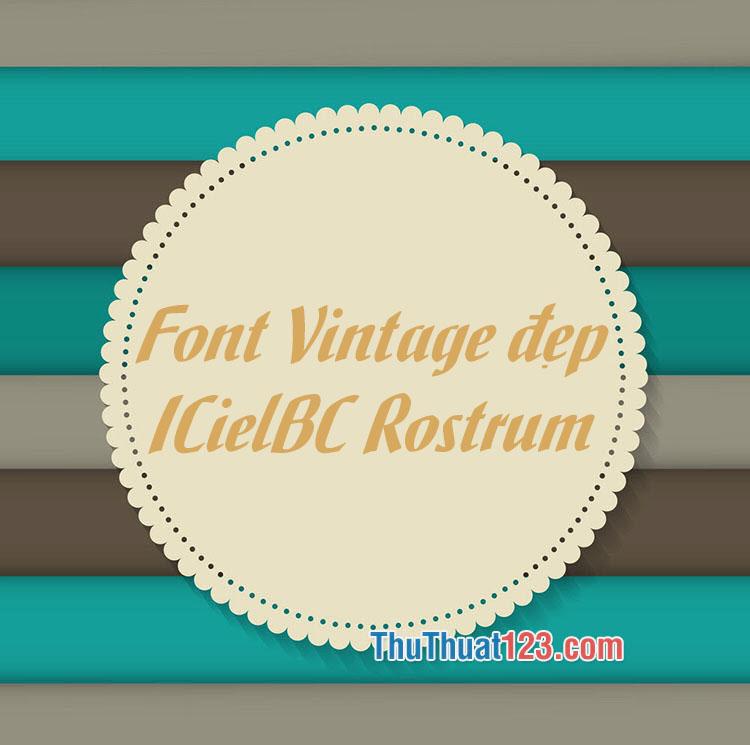 Font Vintage thiết kế banner