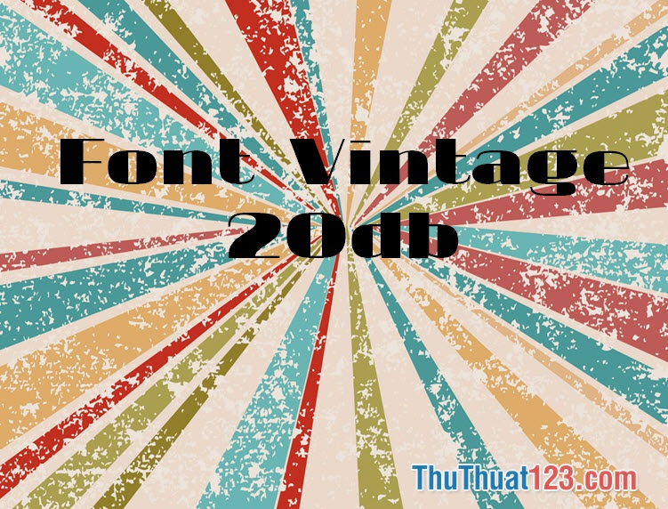 Font Vintage trong thiết kế