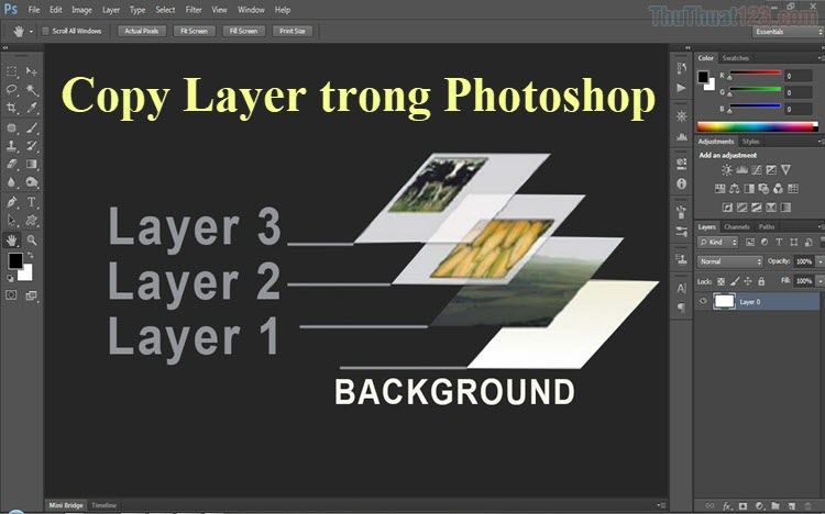 Cách copy layer trong Photoshop