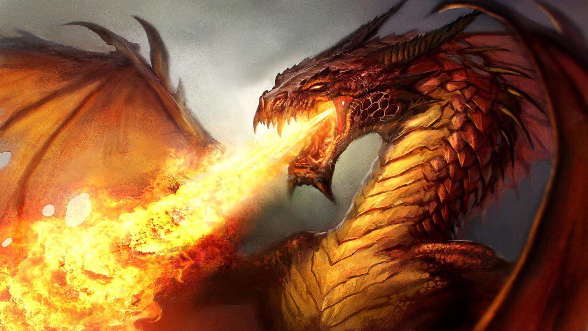 Hình nền rồng phun lửa đẹp
