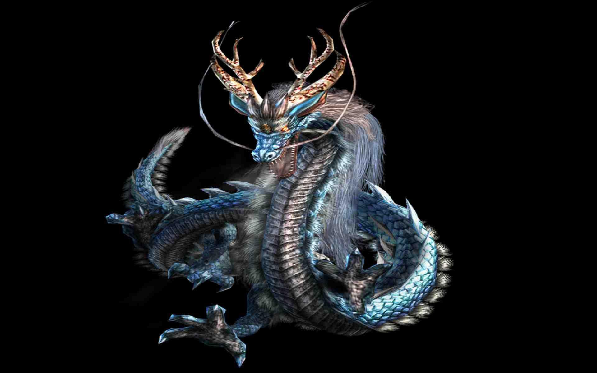 Hình nền rồng thiêng trong 7 viên ngọc rồng