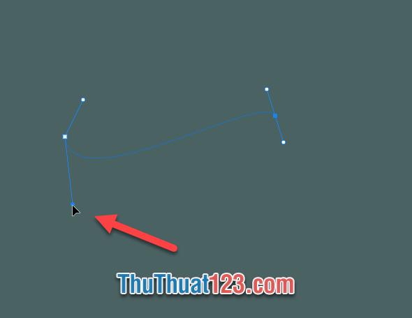 Bấm phím Alt và click chuột vào điểm tròn của vector là có thể thay đổi góc độ của tia vector đó