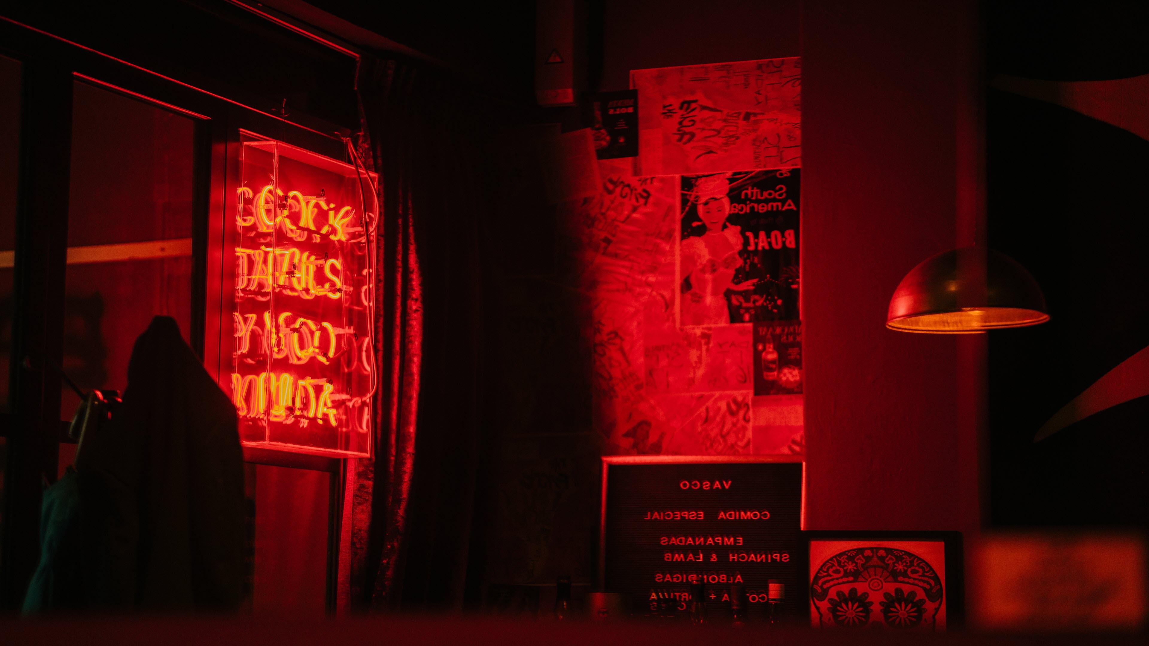 Ảnh nền ánh sáng màu đỏ